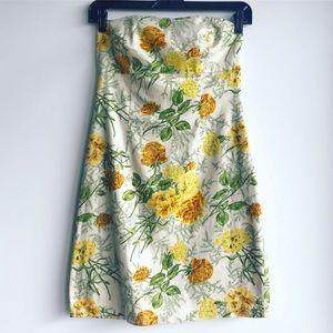 XXI Strapless Flower Dress